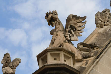 building feature: Gargoyles on building at the University of Chicago