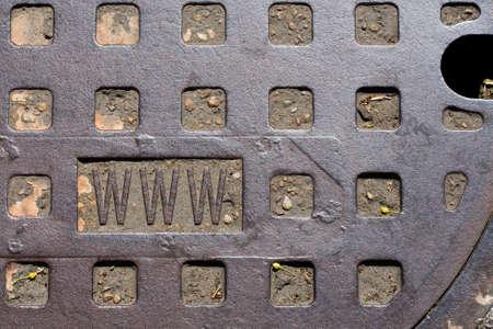 rectángulo: Tapa de registro sucio me puso la www en el rect�ngulo inferior