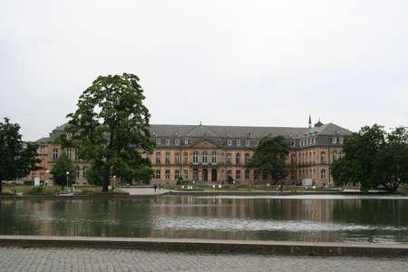 stuttgart: backside of the New Palace in Stuttgart Germany