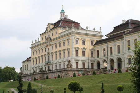 stuttgart: gardensite of the Rezidenz Palace in Ludwigsburg,Stuttgart in Germany