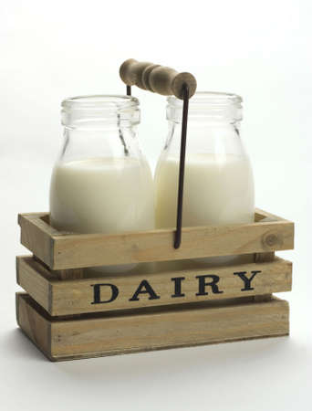 pasteurized: Fresh milk from dairy. Stock Photo