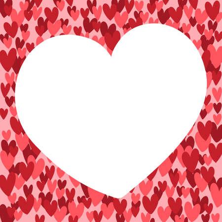 Hand drawn vector valentine heart shaped background illustration. Ilustrace