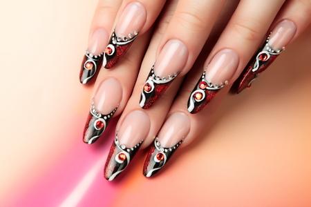 Nail art design.