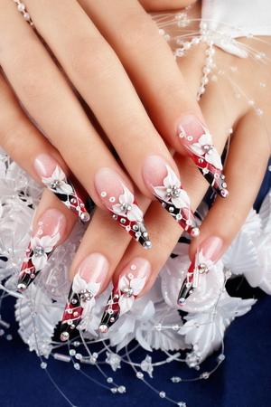 Wedding nails art design.