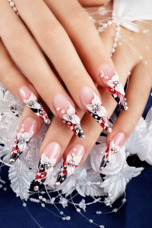 Wedding nails art design.