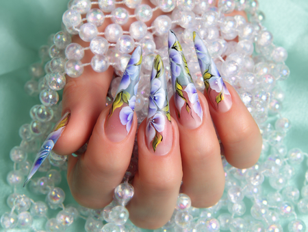 Nails summer design. Stok Fotoğraf - 36371296