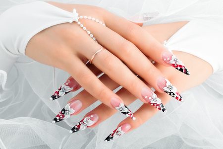 Wedding nail design.