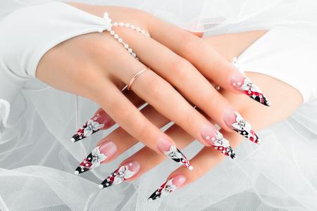 unas largas: Diseño de uñas boda.