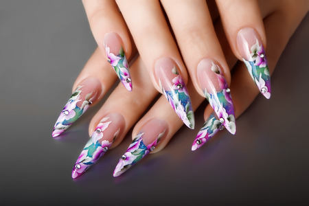 nails manicure: Female nails design.
