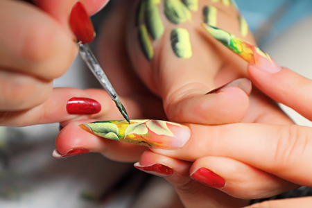 fingernail: Art nail. Real work flow.