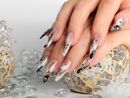 polish: Studio nail art. Stock Photo
