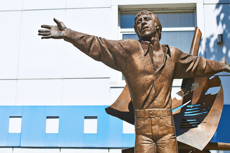 Bronze monument of Vladimir Vysotsky in Odessa, Ukraine Stock Photo