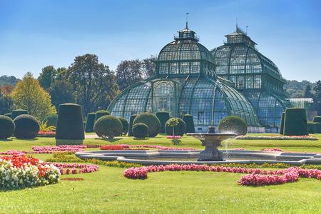 Botanische tuin dichtbij Schonbrunn-paleis in Wenen