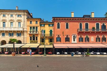 Liston, the wide sidewalk at Piazza Bra in Verona, Italy