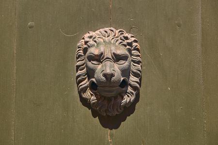 Stock Photo   Vintage Door Knocker In The Shape Of Lion Head