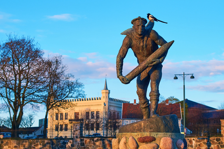 Monument commemorating the heroic work done by the Norwegian merchant navy in the World War II in Oslo, Norway