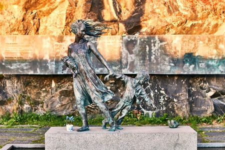 The Memorial to the 159 people who lost their lives in the fire on board the MS Scandinavian Star in Oslo, Norway