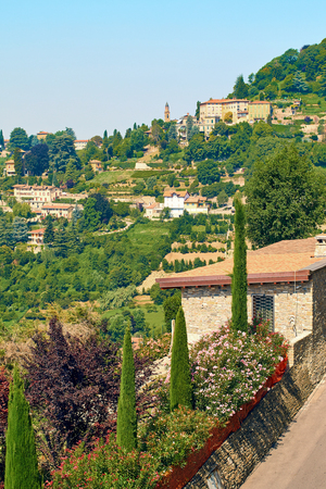 View of beautiful Northern Italy summer landscape