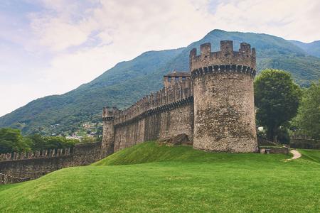 Beautiful medieval Montebello castle in Bellinzona