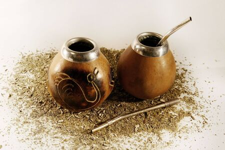 mate drink: Tea-things for a Paraguayan drink mate