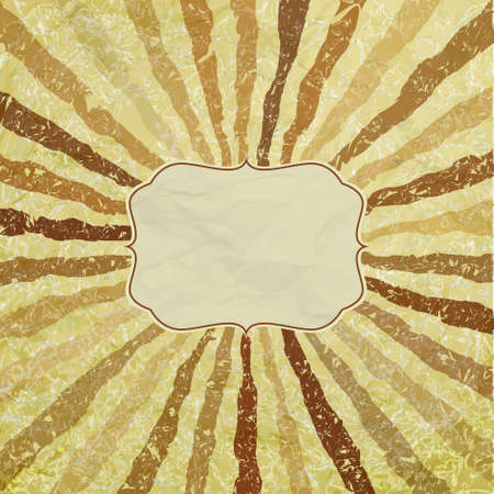 A retro or vintage looking rays pattern. EPS 8 Vector