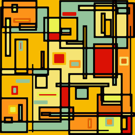 Abstract geometric colorful vector pattern. EPS 8  イラスト・ベクター素材