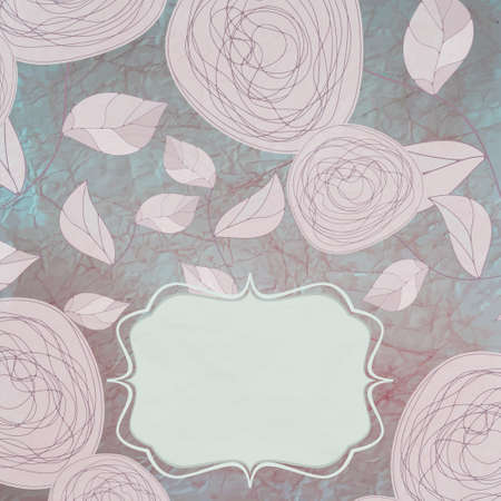 Floral backgrounds with vintage roses Vector