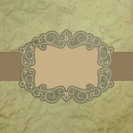 Template of vintage worn card. EPS 8 Vector