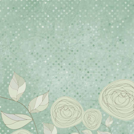 Floral backgrounds with vintage roses.  Vector
