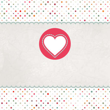 Valentine card with heart.