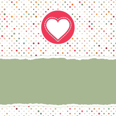 Valentine card with heart.  Vector