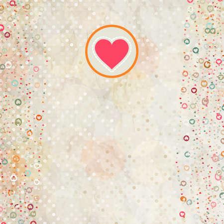 Valentine-Karte mit Platzhalter. Standard-Bild - 11893688