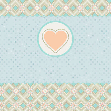 Beautiful valentine card with heart. EPS 8 Vector