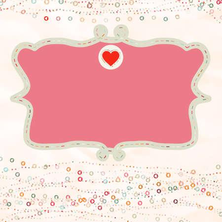 placeholder: Valentine card with placeholder. EPS 8 Illustration
