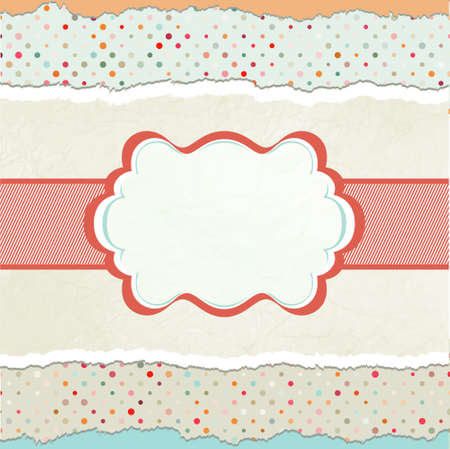 Vintage card template with copy space. EPS 8 Stock Photo - 11979311