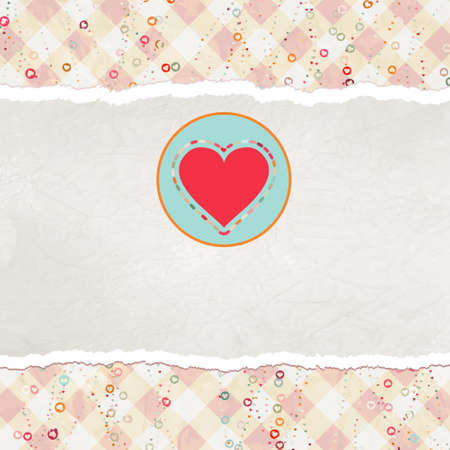 Valentine card with heart.  photo