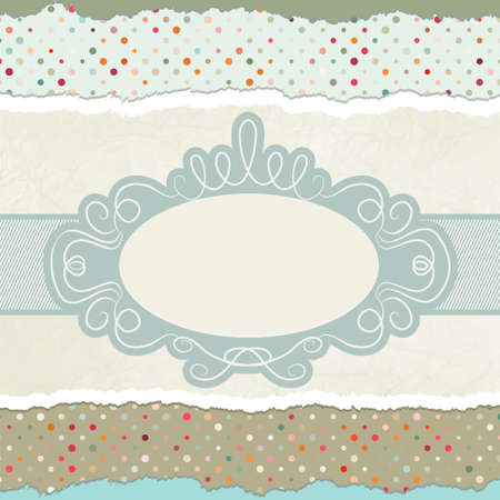 Vintage card template with copy space.