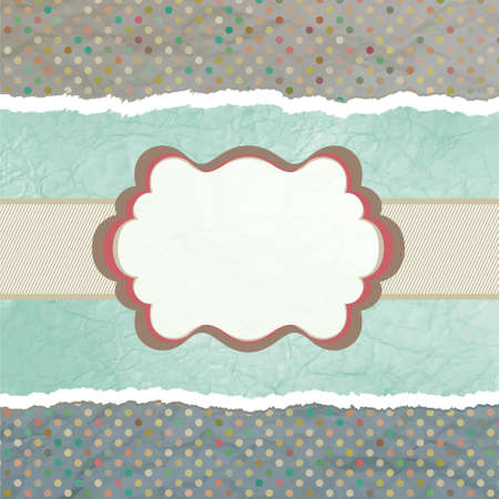 vintage card with polka dots.  Vector