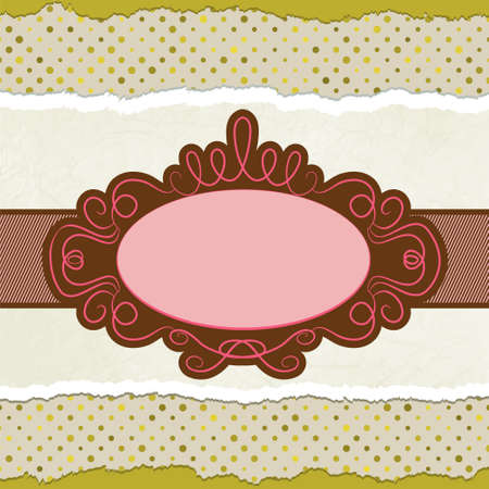Vintage card template with copy space. EPS 8 Vector