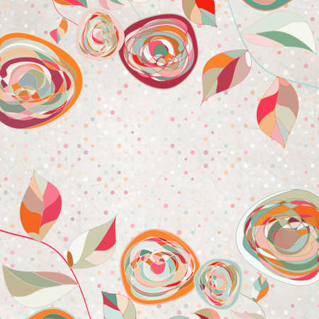 Floral backgrounds with vintage roses. EPS 8 Vector