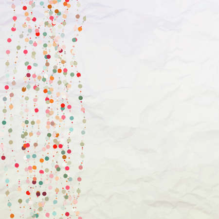 torn paper background: Vintage background with dots. EPS 8