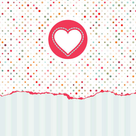 Valentines card with copy space. EPS 8 Vector