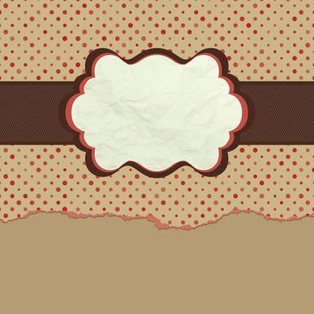 Vintage polka dot design. EPS 8 Vector