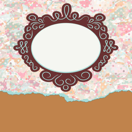 Vintage card template with copy space. EPS 8 Stock Photo - 12190870