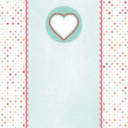 Valentine card with heart. EPS 8 Vector