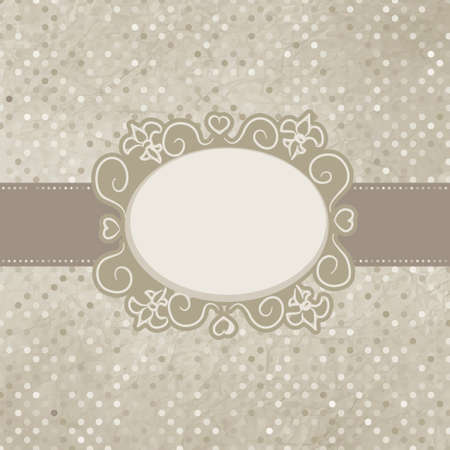 Vintage polka dot card. EPS 8 Illustration