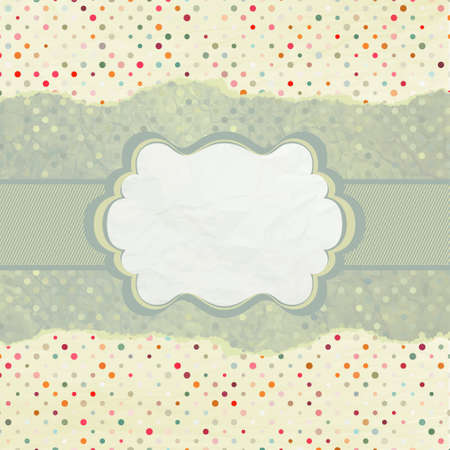 Vintage card with space for text. EPS 8 Vector