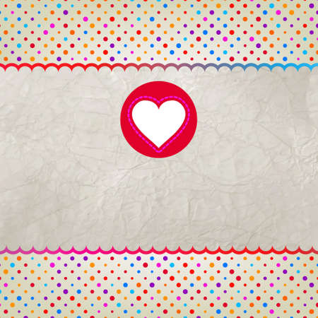 Valentine card with heart. EPS 8 photo
