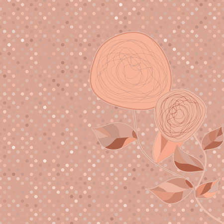 Two romantic floral vintage flower  EPS 8 Vector