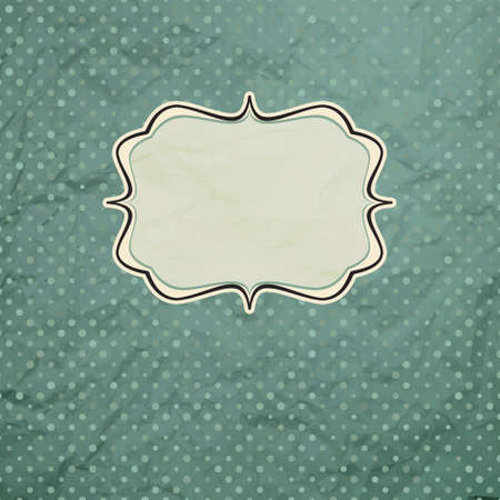 Vintage polka dot card  EPS 8 Vector
